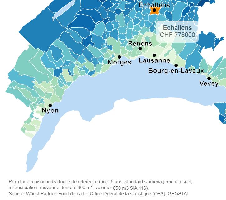 evolution prix moyen appartement echallens 2019