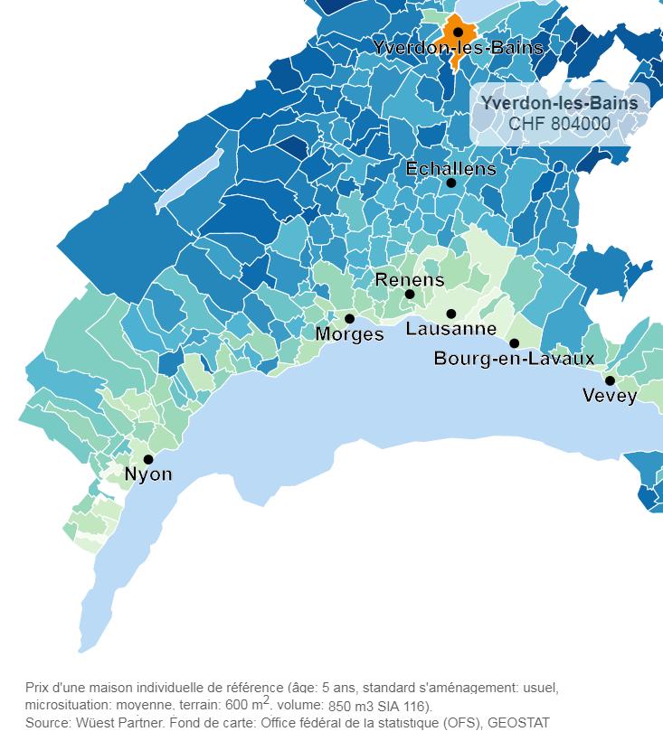 evolution prix moyen appartement yverdon 2019