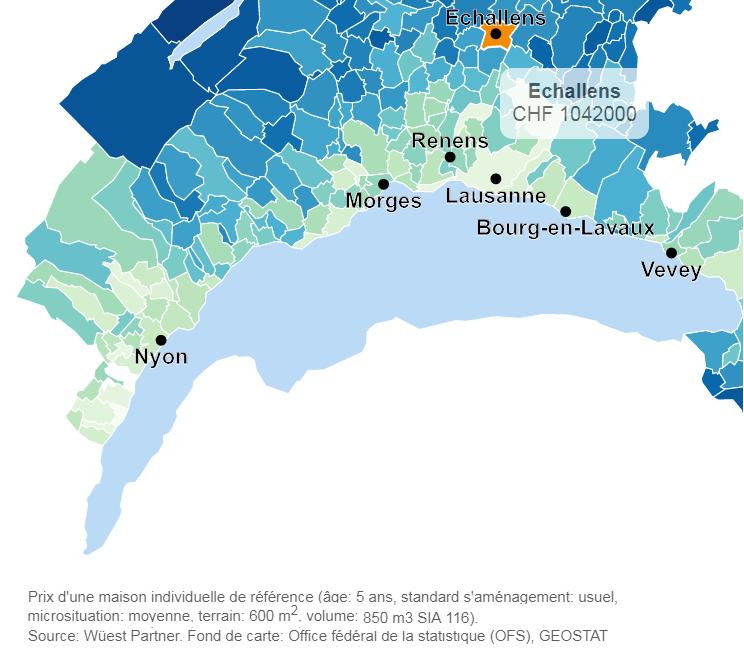 evolution prix moyen maison echallens 2019