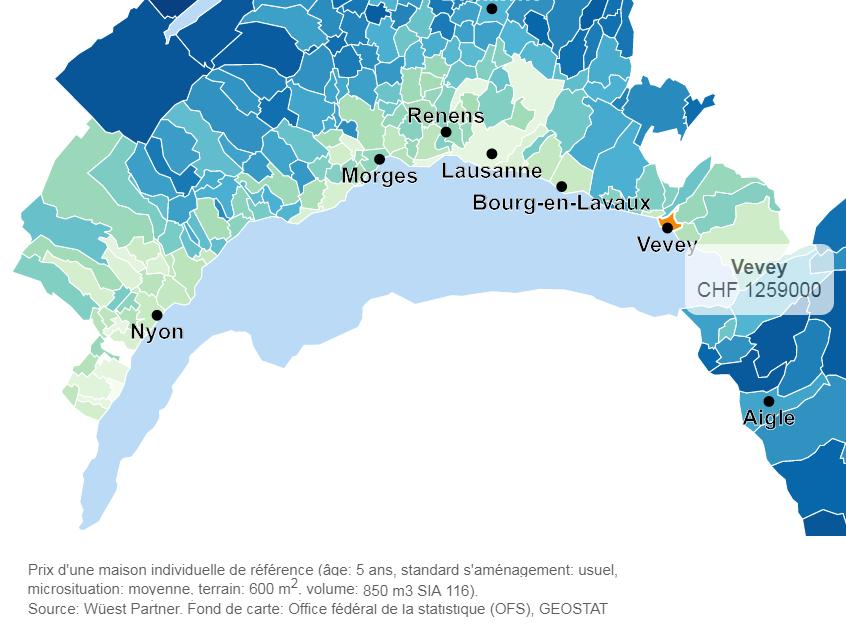 evolution prix moyen maison vevey 2019