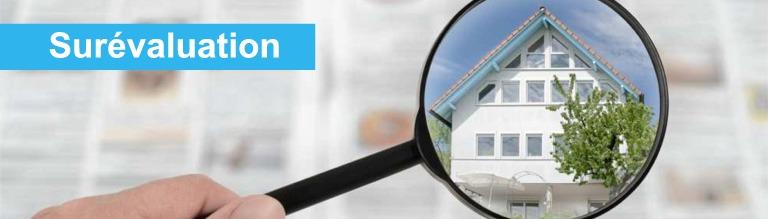 surevaluation prix bien immobilier suisse