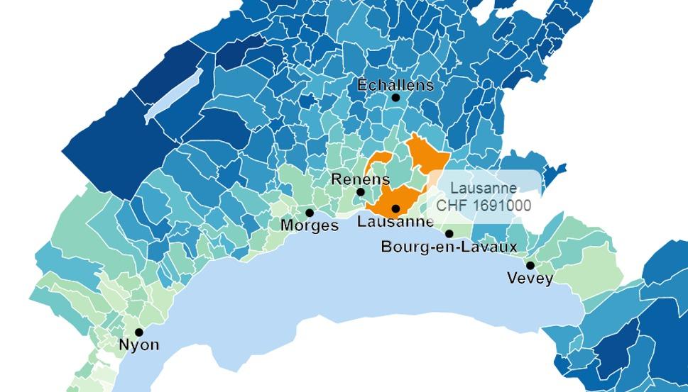 evolution prix moyen maison lausanne 2020