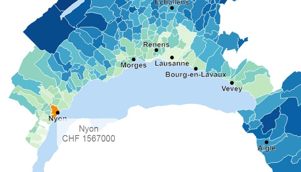 evolution prix moyen maison nyon 2020