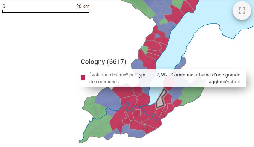 evolution prix m2 maison cologny 2021
