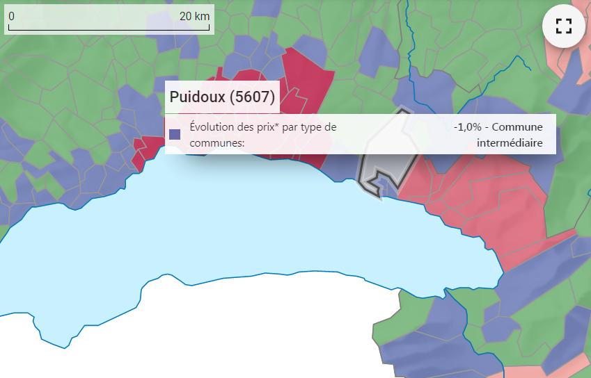 evolution prix m2 maison puidoux 2021