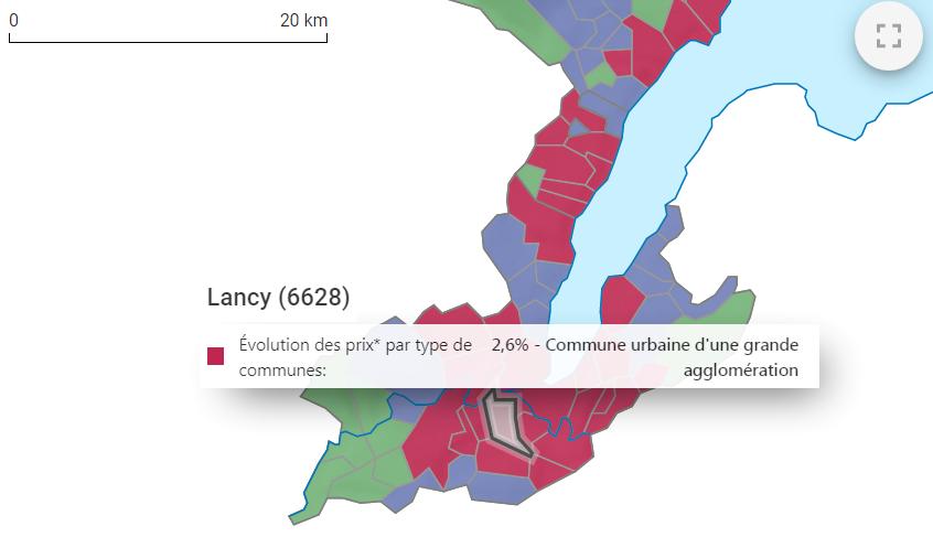 evolution prix m2 maison lancy 2021