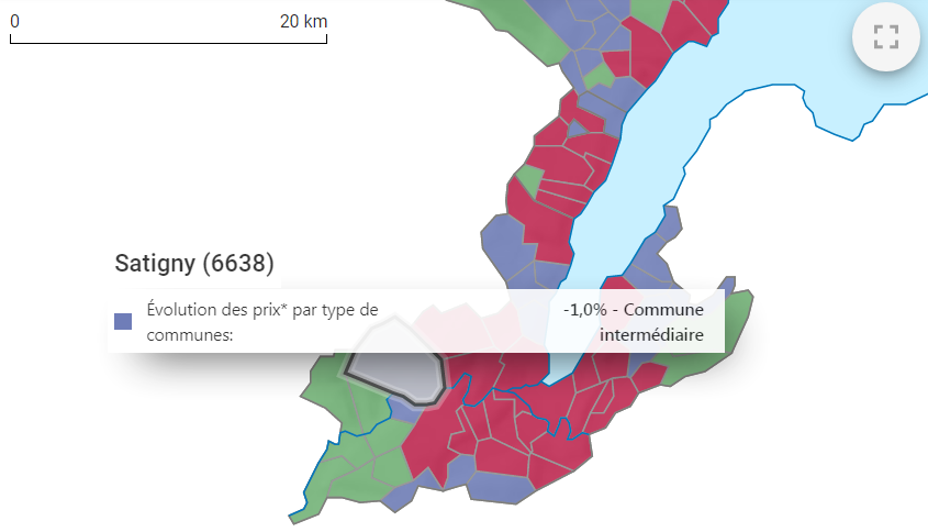 evolution prix m2 maison satigny 2021