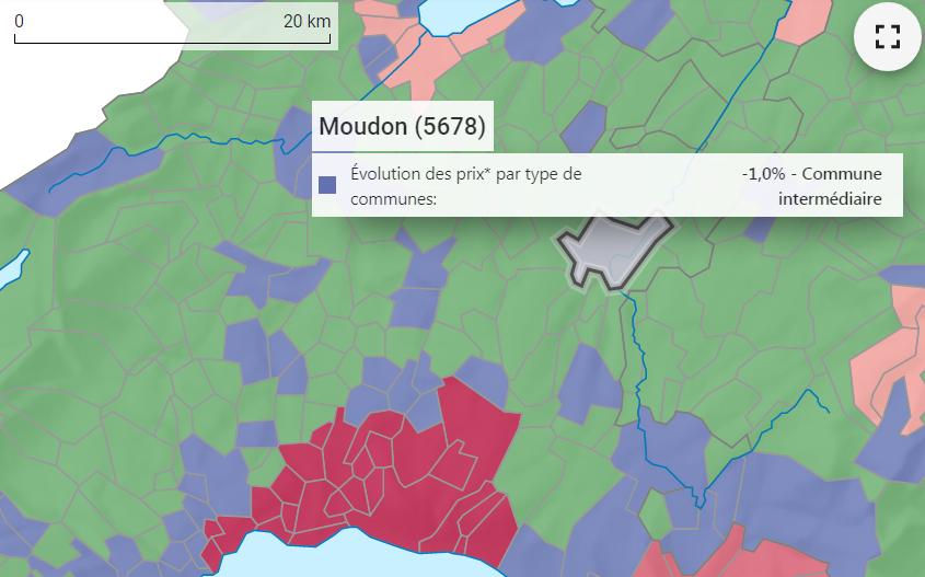 evolution prix m2 maison moudon 2021
