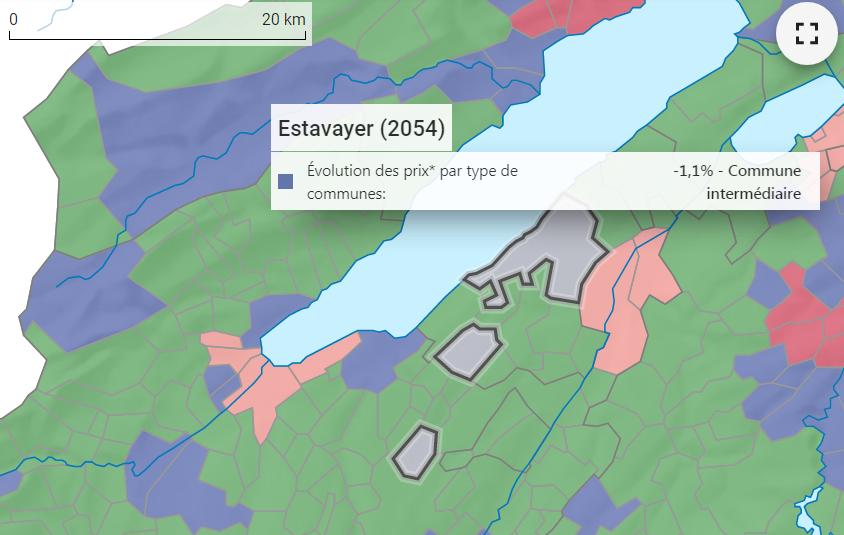 evolution prix m2 appartement estavayer le lac 2021