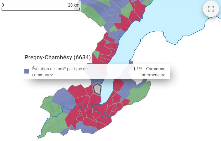 evolution prix m2 appartement pregny chambesy 2021
