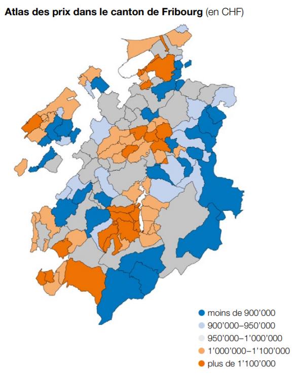 cartographie des prix maison villas fribourg 2021