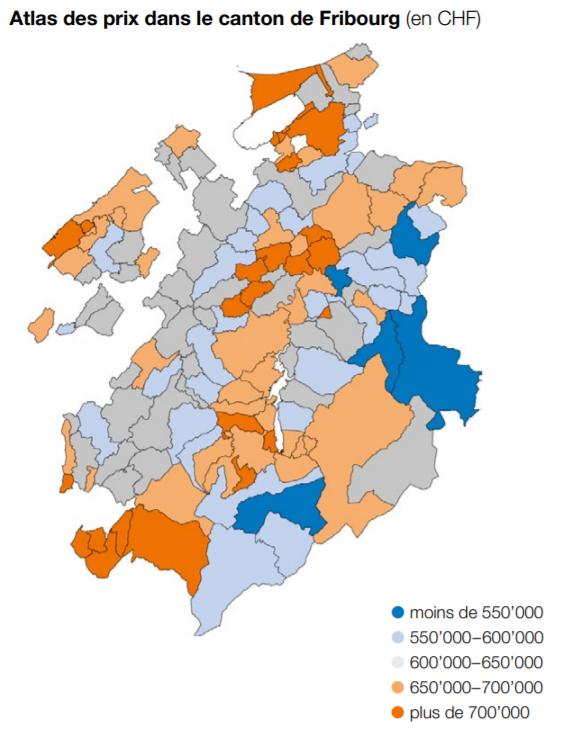 cartographie des prix appartement fribourg 2021