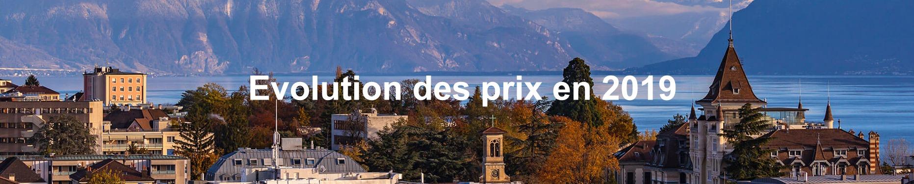 evolution prix m2 immobilier suisse 2019
