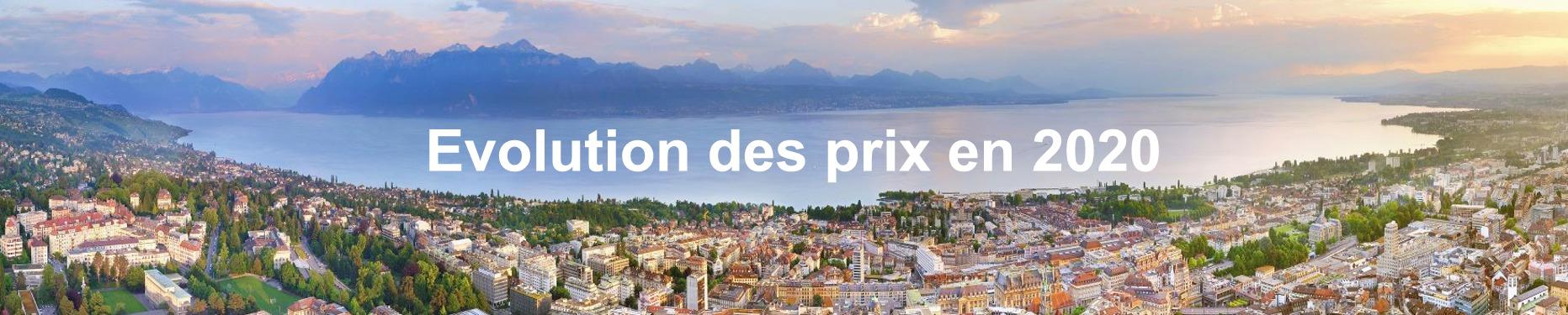 evolution prix m2 immobilier suisse 2020